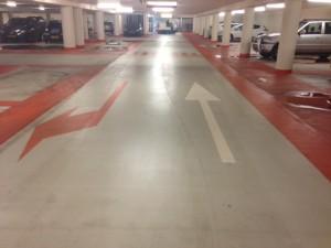 Na reiniging parkeergarages